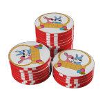 Conejitos de pascua juego de fichas de póquer