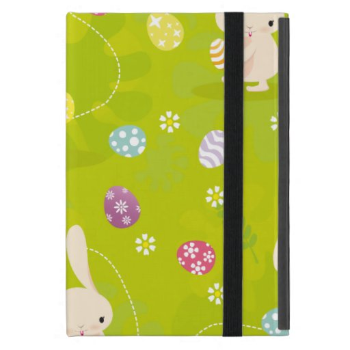 Conejitos de pascua lindos en un prado iPad mini carcasas