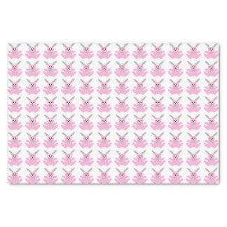 Conejitos de pascua rosados divertidos papel de seda pequeño