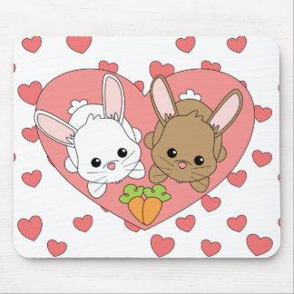 Conejitos del amor alfombrillas de raton