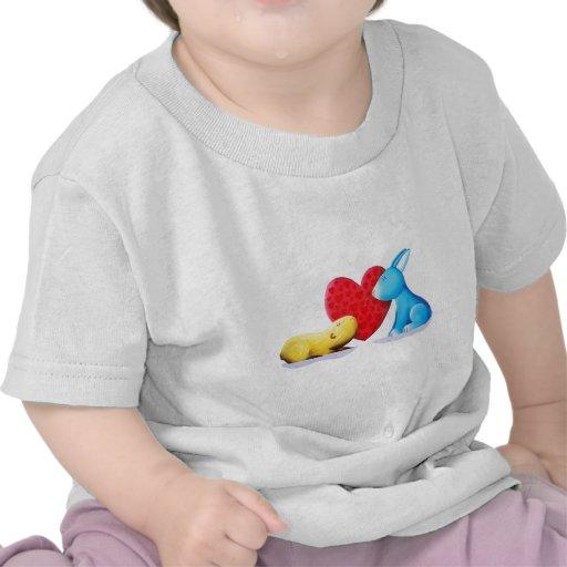 Conejitos del amor camisetas