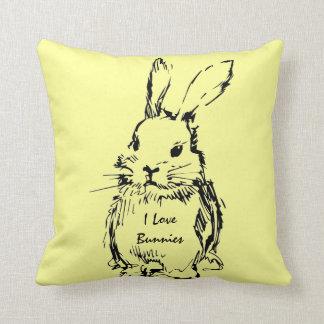 Conejitos del amor (personalizable) almohada