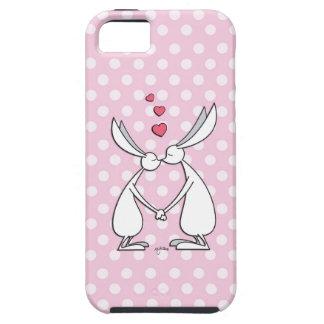 Conejitos del amor - rosa iPhone 5 fundas