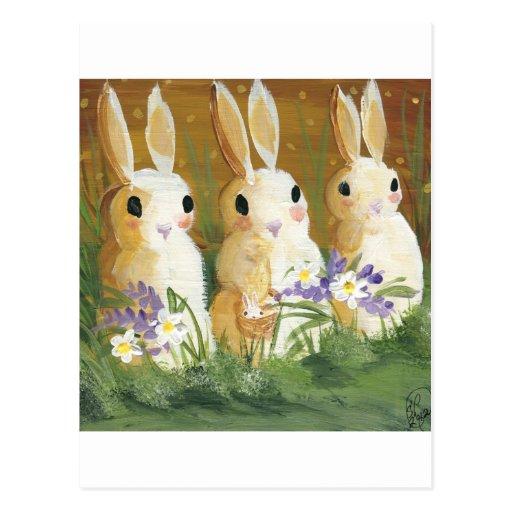 conejitos del amor tarjetas postales