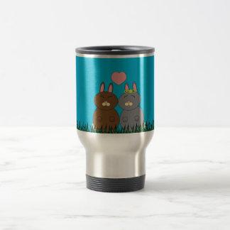 Conejitos del amor tazas de café