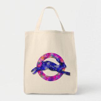 Conejitos del arco iris bolsa tela para la compra