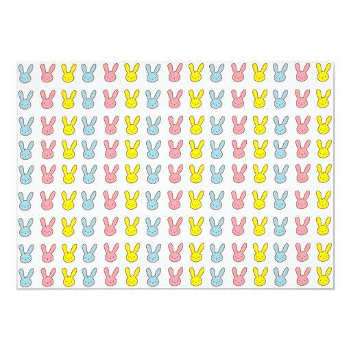 Conejitos del arco iris invitación 12,7 x 17,8 cm
