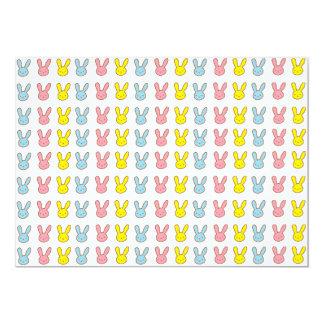 """Conejitos del arco iris invitación 5"""" x 7"""""""