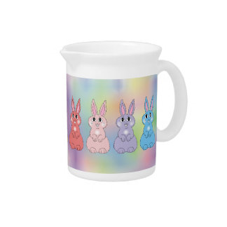 Conejitos del arco iris jarras de beber