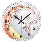 Conejitos del arco iris relojes
