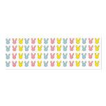 Conejitos del arco iris tarjetas de visita
