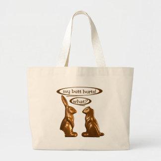 Conejitos del chocolate bolsas de mano