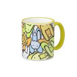 conejitos del color tazas de café