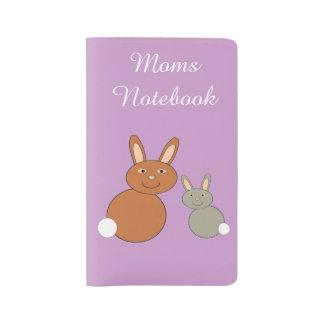Conejitos del día de madres personalizados funda para libreta y libreta grande moleskine