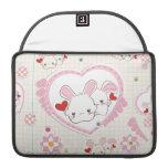 Conejitos del el día de San Valentín Funda Macbook Pro