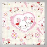 Conejitos del el día de San Valentín Posters