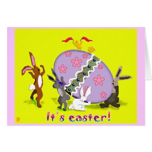 conejitos del huevo felicitaciones