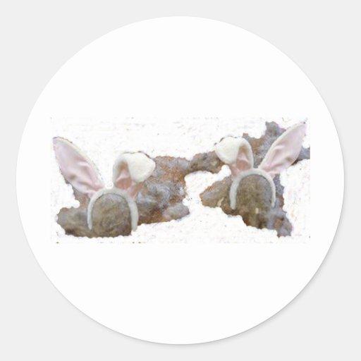 Conejitos del polvo pegatinas