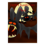 Conejitos del vampiro de Marte Tarjeta De Felicitación