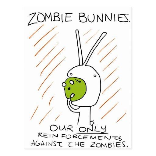 ¡Conejitos del zombi! (con las rayas) Postales