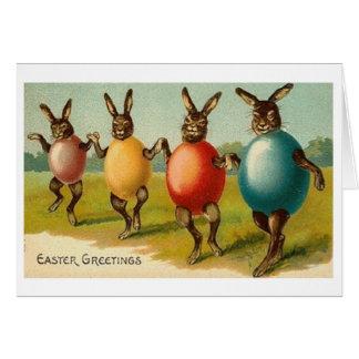 ¡Conejitos en cáscaras de huevo! Tarjeta de pascua