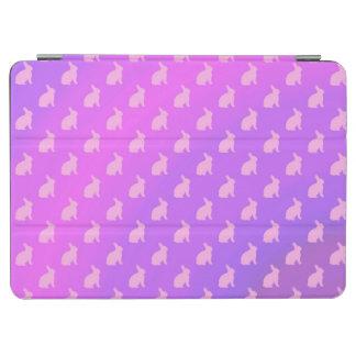 Conejitos en colores pastel rosados púrpuras del cover de iPad air