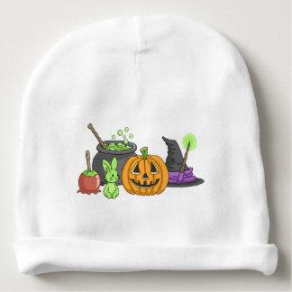 Conejitos fantasmagóricos de Halloween Gorrito Para Bebe