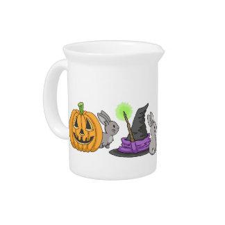 Conejitos fantasmagóricos de Halloween Jarrones