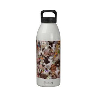 Conejitos felices botella de agua