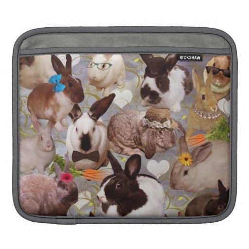 Conejitos felices mangas de iPad