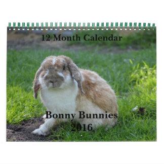 Conejitos hermosos calendario 2016 de 12 meses