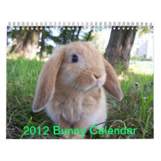 Conejitos lindos calendarios