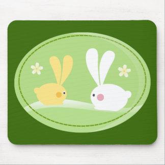 Conejitos lindos mouse pads