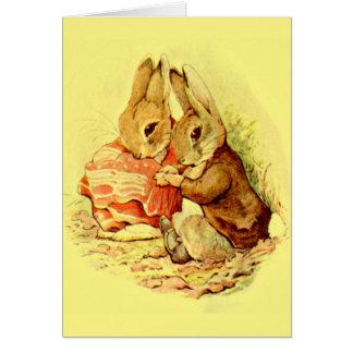 Conejitos lindos tarjeta de felicitación