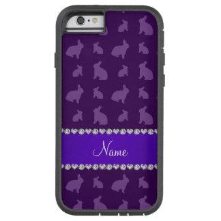 Conejitos púrpuras conocidos personalizados funda de iPhone 6 tough xtreme
