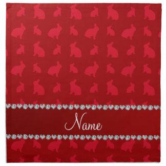 Conejitos rojos conocidos personalizados servilletas