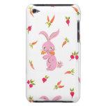 Conejitos rosados con las zanahorias Case-Mate iPod touch carcasas