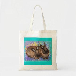 Conejitos soñadores en la tierra de la fantasía co bolsas lienzo