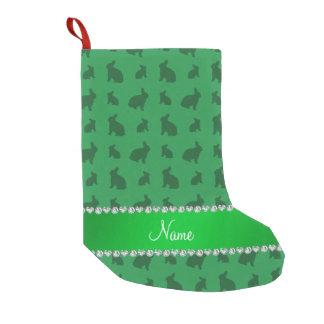 Conejitos verdes conocidos personalizados bota navideña pequeña