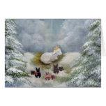 Conejitos y tarjeta de Navidad del cordero