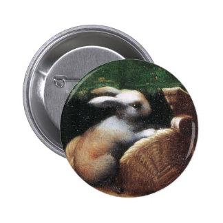 Conejo 1523 de Parmigianino Pin Redondo De 2 Pulgadas