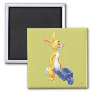 Conejo 2 imán cuadrado