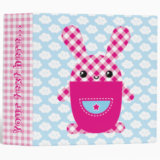 Conejo a cuadros de Kawaii