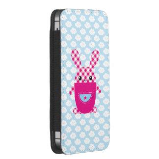 Conejo a cuadros de Kawaii Funda Acolchada Para iPhone