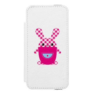 Conejo a cuadros de Kawaii Funda Billetera Para iPhone 5 Watson