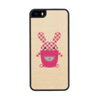 Conejo a cuadros de Kawaii Funda De Arce Carved® Para iPhone 5 Slim