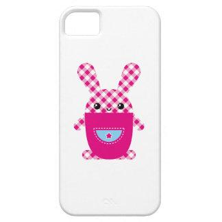 Conejo a cuadros de Kawaii Funda Para iPhone 5 Barely There