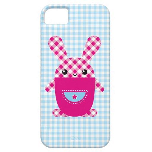 Conejo a cuadros de Kawaii Funda Para iPhone SE/5/5s