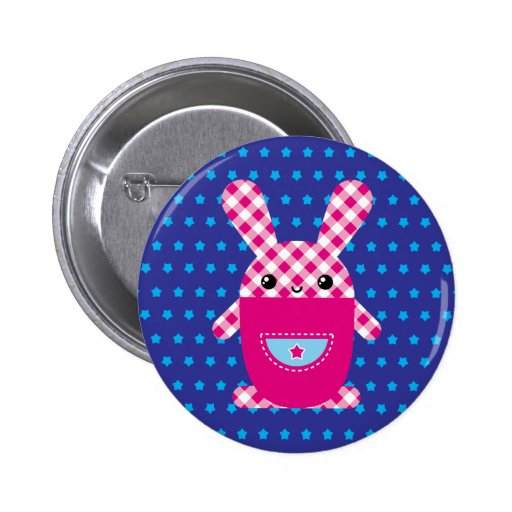 Conejo a cuadros de Kawaii Pins