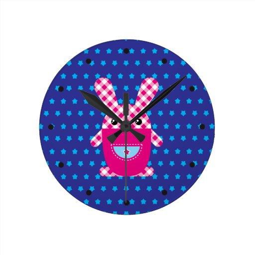 Conejo a cuadros de Kawaii Relojes
